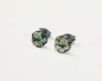 Forest Dew Enamelled Studs