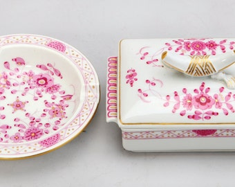 A Lot Of Meissen Porcelain, Comprising:  A. Ashtray, C. 1910. Fully Marked