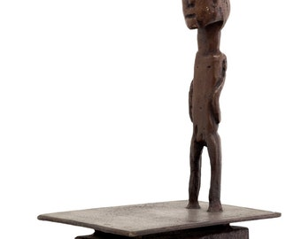 Bronze Sculpture Signed by Igael Tumarkin Man Standing Unique Art