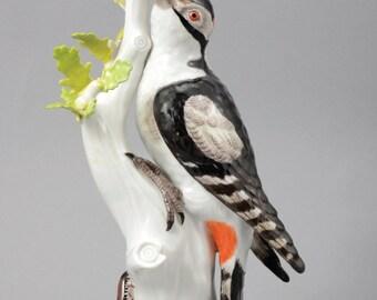 A Meissen Porcelain Figure Of A Great Spotted Woodpecker, 1986