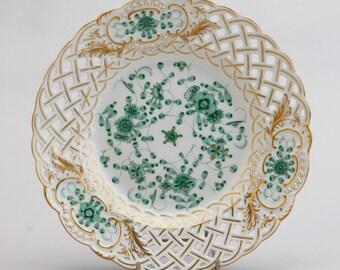 A Meissen Porcelain Plate In Indianischeblumen Pattern, 1987