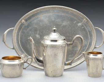 Wmf art deco coffee set  comprising 4 pieces - fully marked