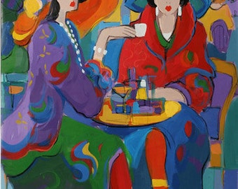 Acrylic on Canvas Original Unique Art Painting Signed by Isaac Maimon Sophie's Scheme
