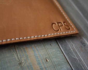 12 inch New Macbook Case Bag, Hand Stitched Leather Laptop Sleeve Bags, Leather Portfolio Sleeve - Top Grade Italian Veg Tanned Leather