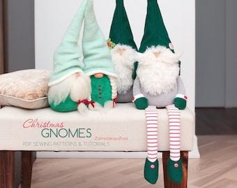 2 PDF Swedish Christmas gnome patterns and DIY tutorials how to make 4 Nordic gnomes, decor