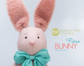 Stuffed bunny sewing pattern PDF | Plush animal toys for baby