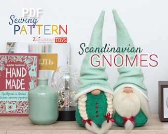 Gnome patterns for sewing plush PDF Christmas toy doll