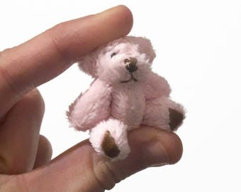 Miniature dollhouse teddy bear toy / 1:12 dollhouse miniature teddy bear / collectible miniature toys / scale one inch artist OOAK teddybear