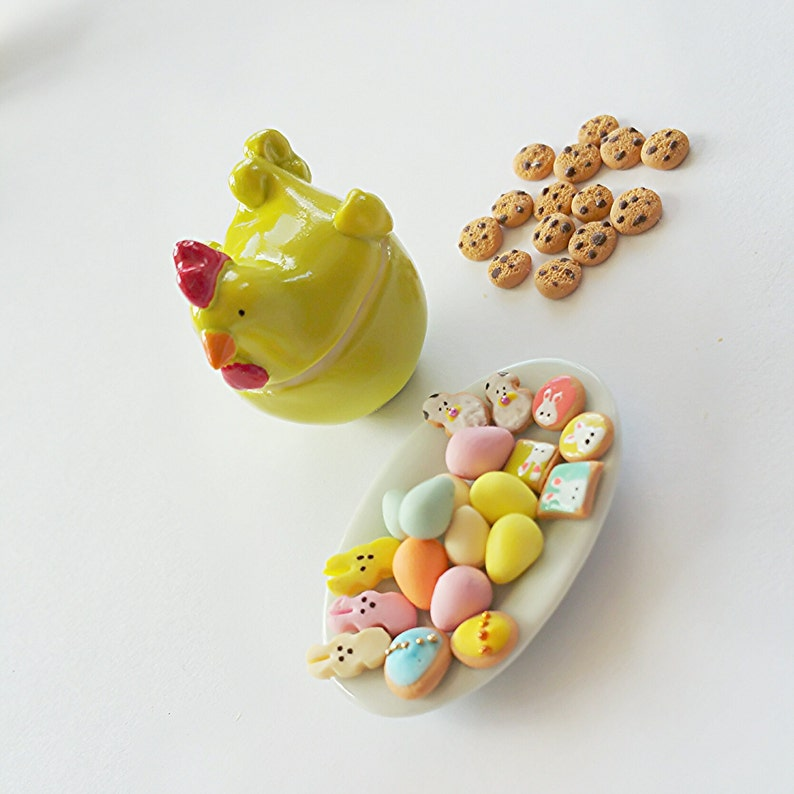 Dollhouse miniature Easter cookies selection  Scale one inch Easter cookies   dollhouse miniature Easter scale 1 12 biscuit  dollhouse
