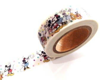 Japanese Washi Tape, Disney Mickey & Minnie Mouse 10 METRES