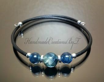 Cuff Bracelet Ad441 Blue Bracelet Kyanite Bracelets Kyanite Cuff Sterling Silver Cuff Bracelet