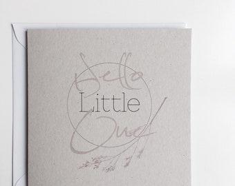 Handmade New Baby Card •  Minimal • New Arrival