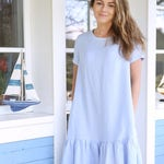Wide Summer Dress / Baltic Linen / Handmade Pleated Tunica / Loose Summer Dress / Women's Linen