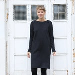 Oversized Merino Wool | Loose dress | Warm Dress | Long Sleeves  Dress | Dress with Pockets | Comfy Dress | Winter Dress | Plus size Dress
