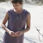 Peter Pan Collar Linen Dress / Minimal Dress / Summer Tunic / Date Dress / Dress with Pockets / Dress with Belt / Classic Linen Dress