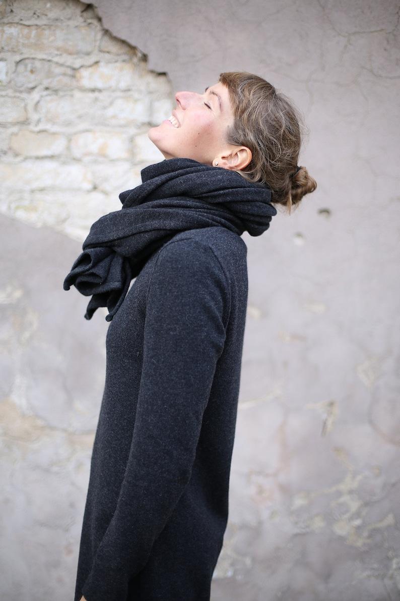 Merino Wool Scarf  Overlong Scarf  Wool Scarf  Cashmere image 0
