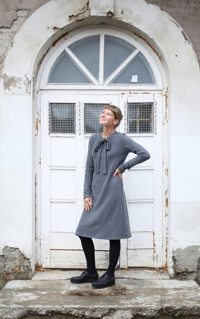 Elegant Merino Wool Dress  Long Dress  Winter Dress  Women image 0