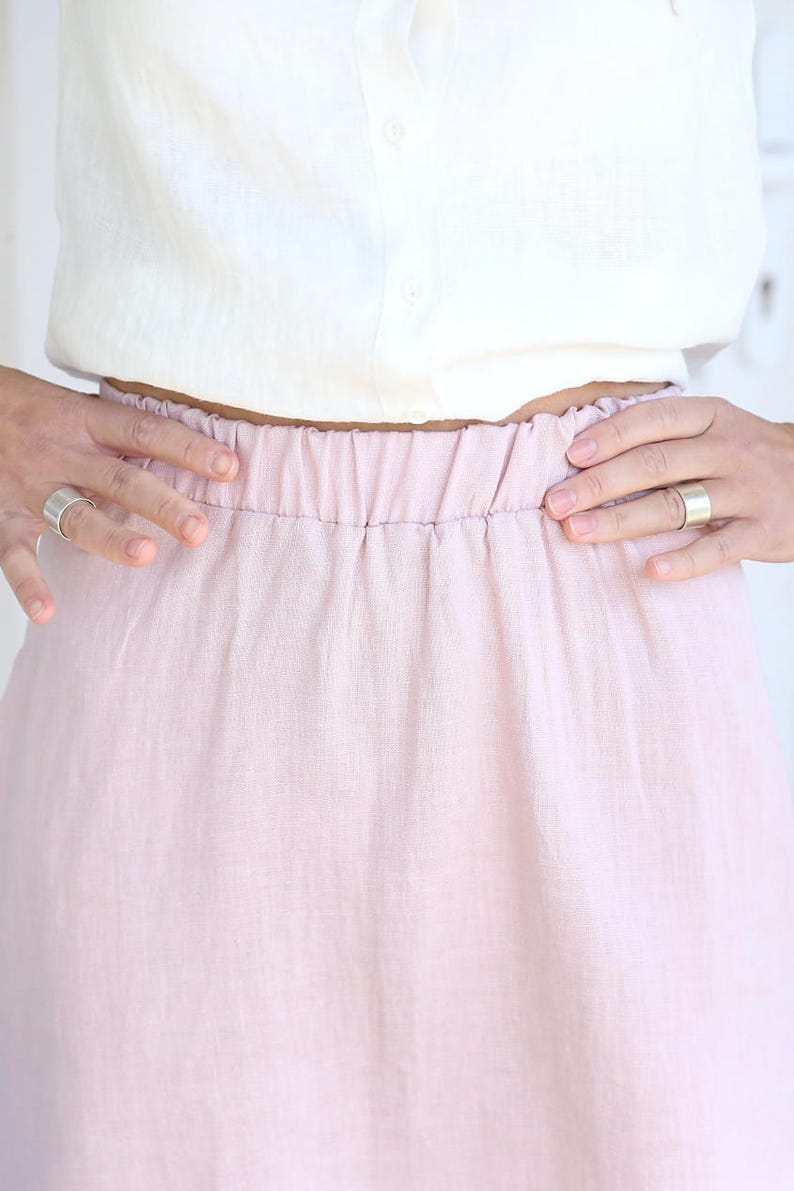 SALE / SAMPLE SALE / Soft Linen Skirt / Summer Linen Skirt image 0