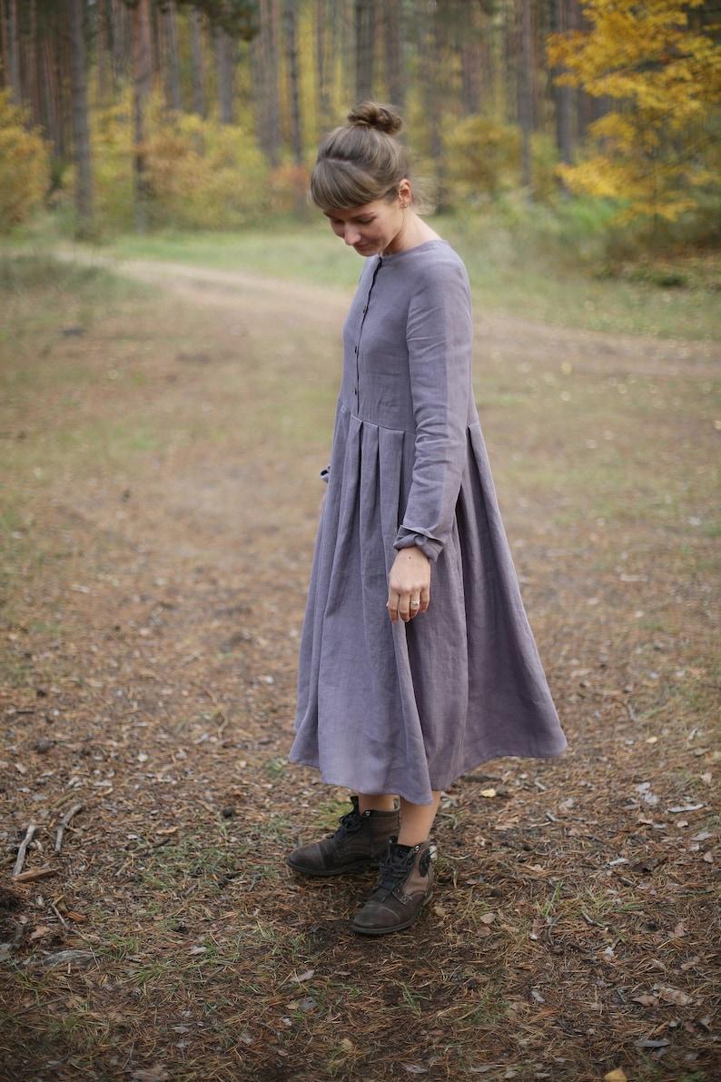 Autumn Linen Dress / Long Sleeves Dress / Long Dress / Dress image 0