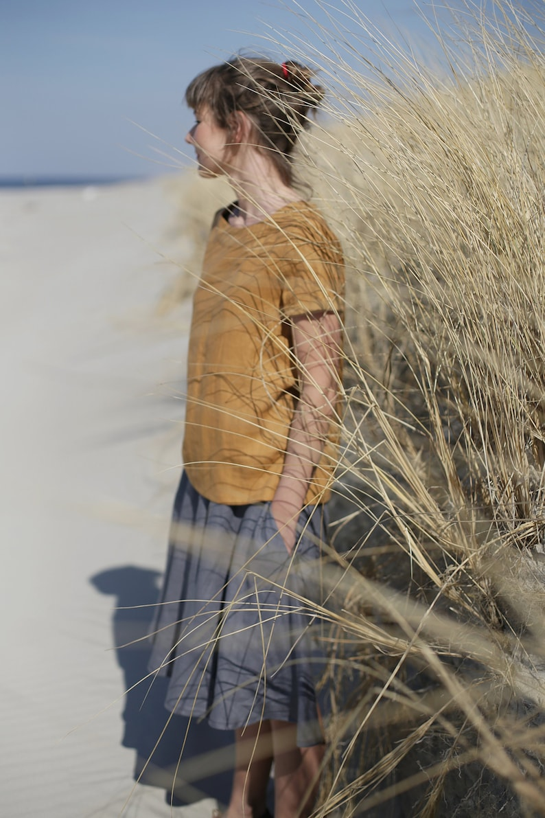 Linen Blouse / Women's shirt / Linen Top / Loose fit / image 0