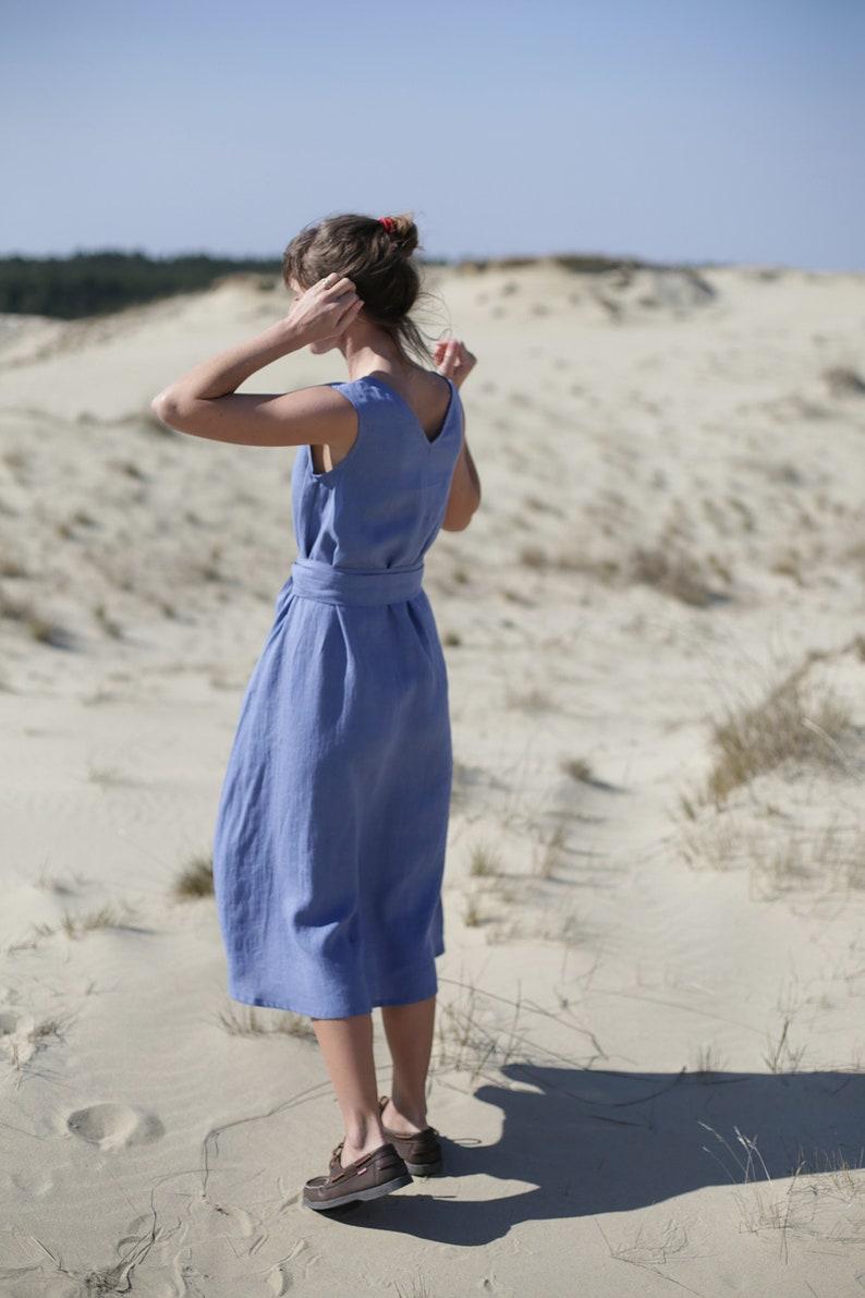 Long to the ground Linen Dress / Wide Dress / Fiesta Dress / image 0