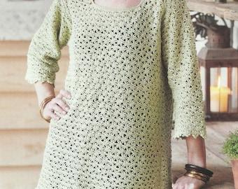 Crochet Kaftan Style Tunic PDF Pattern Instant Download