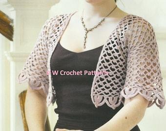Crochet Shawl Bolero PDF Crochet Pattern Instant Download