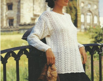Knitted  Lace Sweater PDF Knitting Pattern Instant Download
