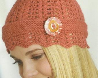 Crochet Cloche Hat Crochet PDF Pattern OpenWork 1920s Instant Download