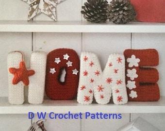 Crochet Home Letters PDF Pattern Instant Download