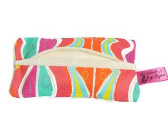 Tissue Holder, Pocket Tissue Holder, Tissue Pouch, Travel Tissue Holder, Tissue Case, Tissue cover, Kleenex holder, Colourful Kleenex cover