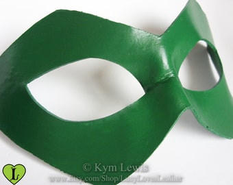 Comic Book Hero Mask, Leather Domino mask, Cosplay Prop, Mard Gras, Leather Masquerade mask, Cosplay Costume