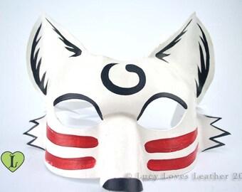 White Fox Mask, Fox Cosplay, Kitsune Costume, Animal Masquerade Mask, Fox Fursona, Masked Ball, Kitsune Cosplay
