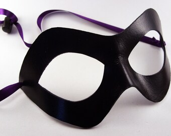 Leather Hero Mask, Cosplay Costume, Comic Book Hero Masquerade, Super Mask, Easy Cosplay, Domino Style, Lightweight Mask