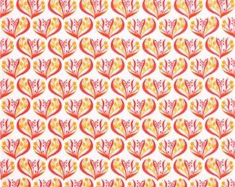ORGANIC Alegria Hearts in Pink - HALF Yard