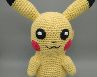 f7304a35fad Handmade crochet amigurumi extra big size Pikachu - READY TO SHIP -