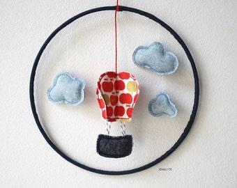 baby mobile, hot air balloon mobile, Ballonmobile, baby crib mobile, Fensterdeko, nursery decor