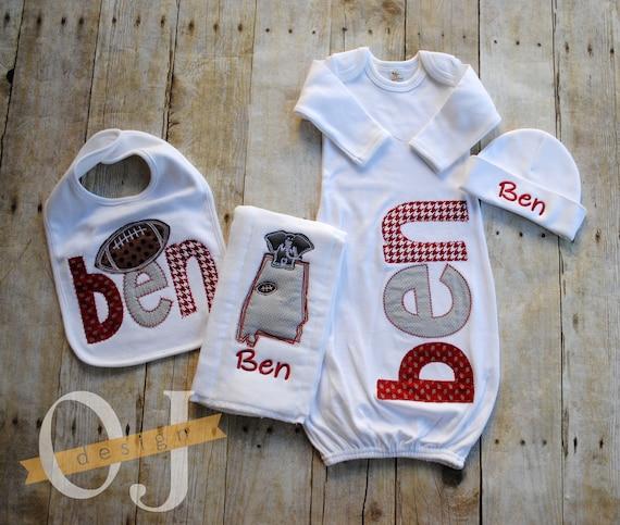 Personalized Baby Gift Set Alabama Football Crimson Tide  246ca9fc99f