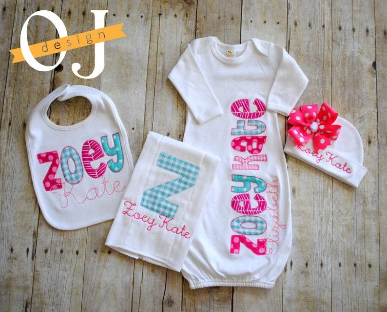 c6ecde9e9830b Personalized Baby Girl Gift Set Newborn Gift Set Infant   Etsy