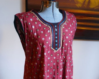 Small / Medium - Vintage Exotic Indian Dress
