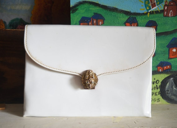 Vintage Patent Leather Purse - Clutch - Patent Lea