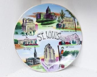 Vintage St. Louis Souvenir Plate - Souvenir