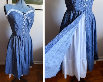 Extra Small - Pretty Sweet Cotton Vintage Dress