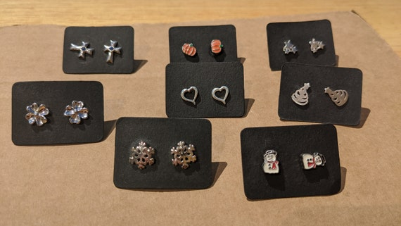 holiday sterling silver studs