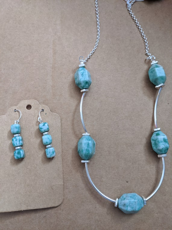 sterling silver jade set