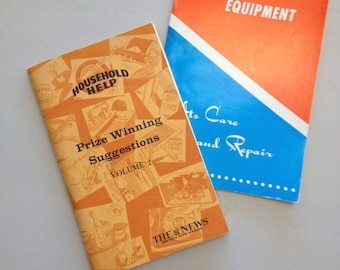 Vintage How-To Household Books Electronic Tips and Care Books 1950s 1960s