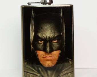 SALE 16.99 (was 19.99) Ben Affleck IS Batman! 8 oz stainless steel flask