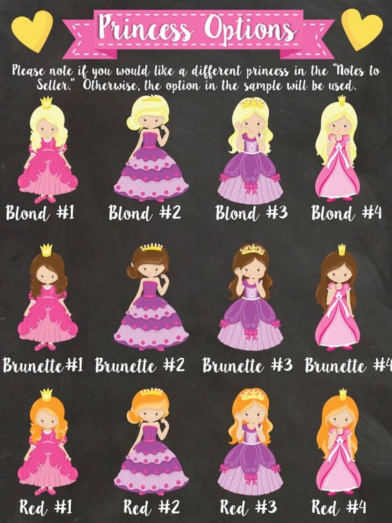 Princess Birthday Chalkboard Castle Royal Princess Theme 2nd Birthday 3rd Birthday 1st Birthday Crown Printable Poster