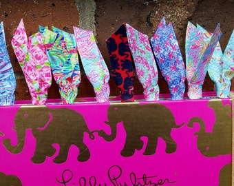 Lilly Pulitzer Ribbon Paper Clips! Perfect for bookmarks, planners, and much more! Mix and match!