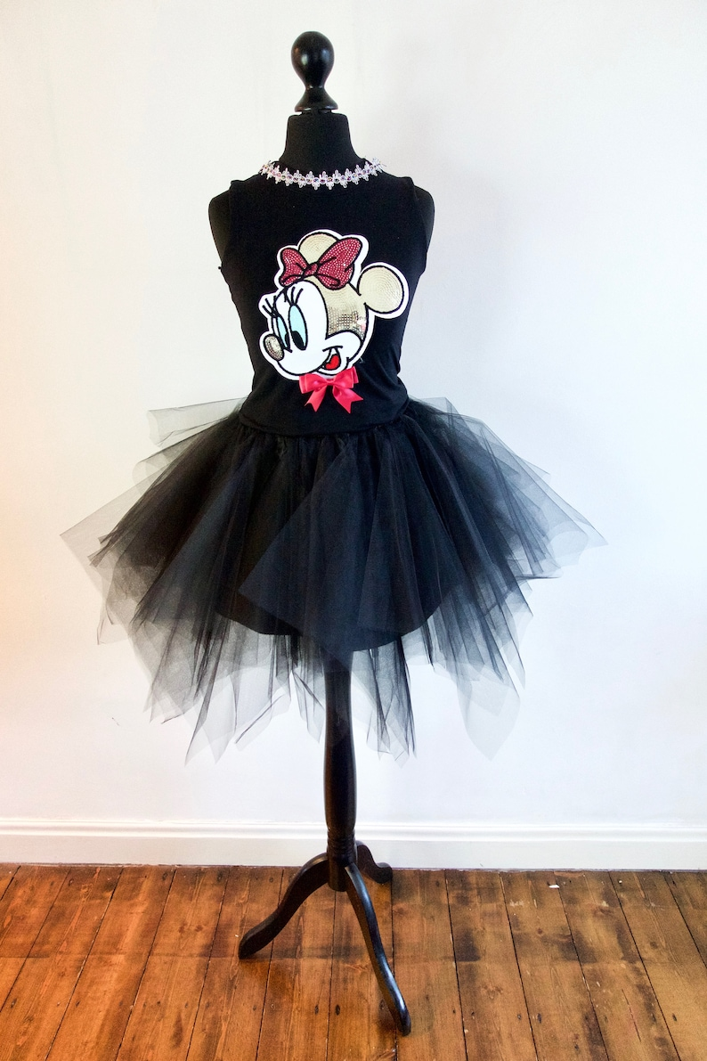 6e2f6944437 Women s Minnie Mouse Party Bodice top with Sequin Patch